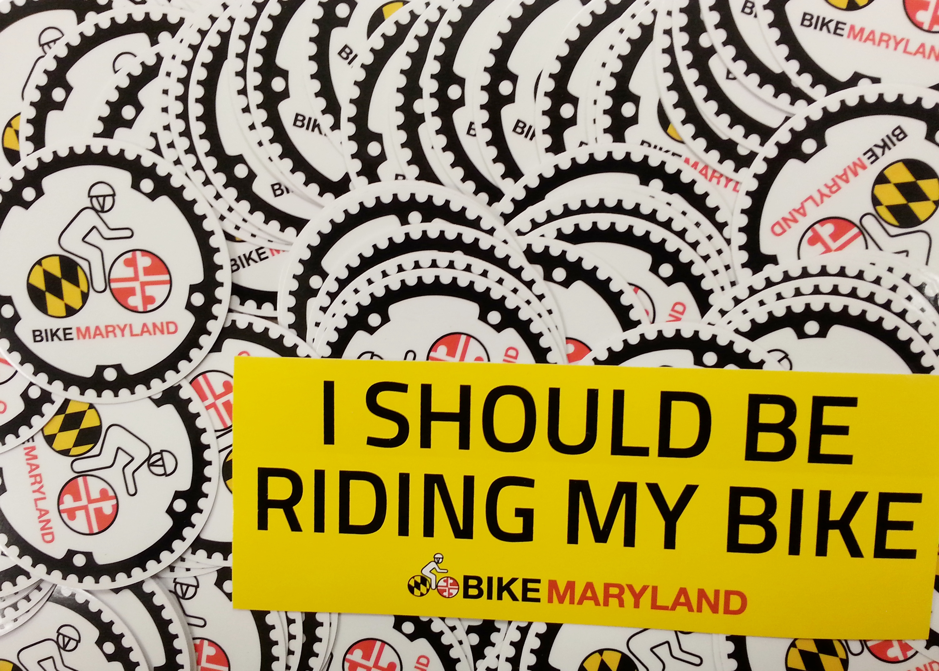 Bike Maryland Stickers