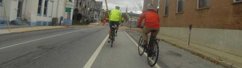 Hagerstown bike lane along the Loop