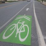 Green bike lanes in Williamsport