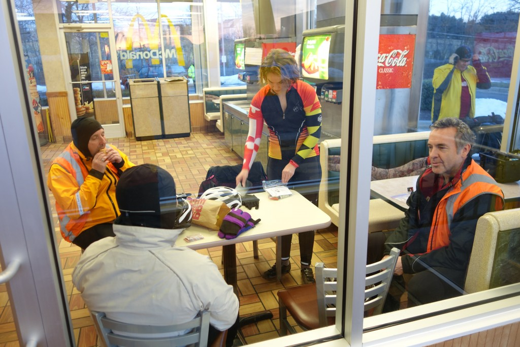 We gathered at the Woodbine McDonald's for coffee and breakfast.